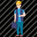 handyman, handyperson, handyworker, repairman, serviceman icon
