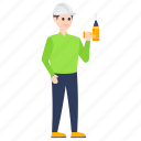 electrician, lineman, mechanic, serviceman, wireman icon
