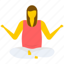 open arms, relaxing, relaxing exercise, seated yoga pose, yoga icon