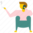bathroom smoker, cigarette smoking, smoking, smoking man icon