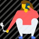 bathroom smoker, cigarette smoking, smoking, smoking man icon
