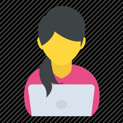 businesswoman, developer, entrepreneur, programmer, technologist icon