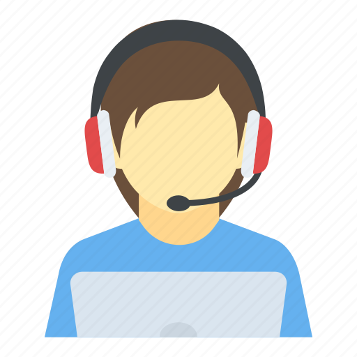 call center, call operator, customer representative, customer support, telemarketer icon