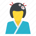 geigi, geiko, geisha, japanese woman, traditional icon