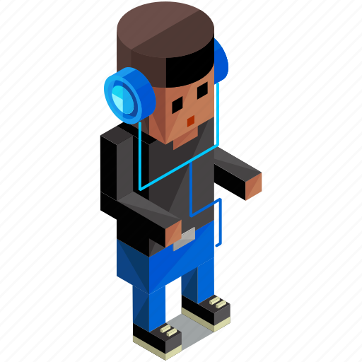 avatar, headphones, man, people, person, user icon