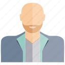 avatar, beard, face, old, people, profile, user icon
