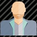 avatar, beard, face, old, people, profile, user