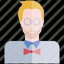 avatar, face, nerd, people, profile, user icon