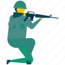 army, militant, military, soldier, warrior icon