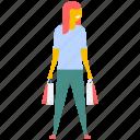 buying, lifestyle, shopping, shopping girl, shopping woman icon