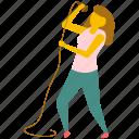 female singer, music concert, singer, street music, woman singing icon