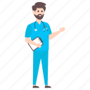doctor, male physician, medical doctor, medical specialist, surgeon icon