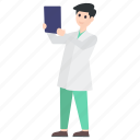 doctor, lady doctor, medical specialist, physician, radiographer, x ray report icon