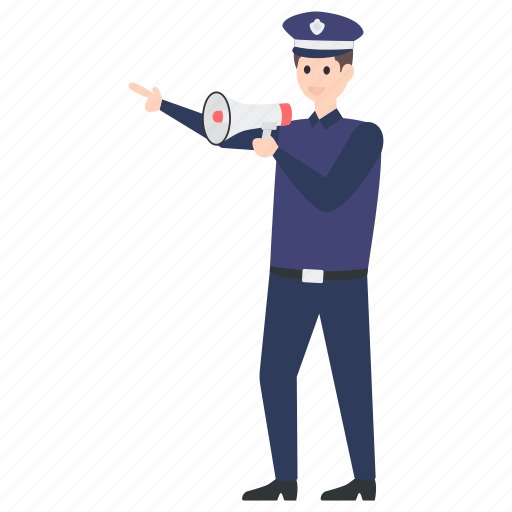 announcer, announcing man, security guard, security man, security officer, watchkeeper icon