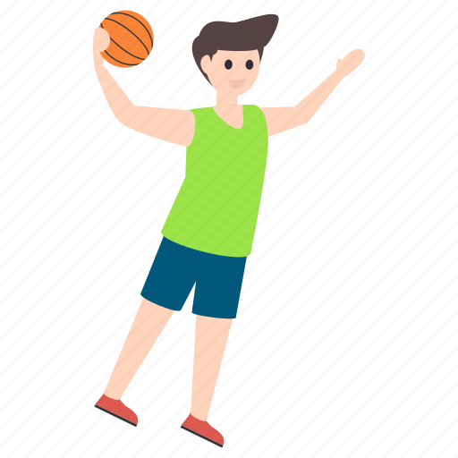 basketball player, male player, outdoor game, sportsman, sportsperson icon