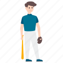 athlete, baseball player, male player, outdoor game, sportsman, sportsperson icon