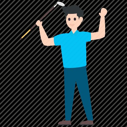 athlete, golf player, male player, outdoor game, sportsman, sportsperson icon