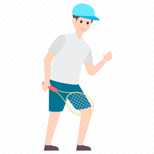 badminton player, outdoor game, player, sportsperson, sportswoman icon