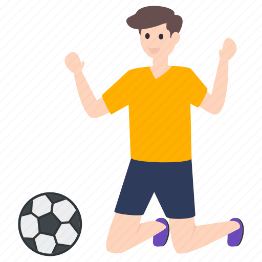 football player, male player, outdoor game, soccer player, sportsman icon