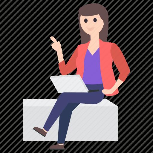 businessperson, businesswoman, employer, female employee, office employee, working woman icon