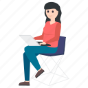 businessperson, businesswoman, employer, female employee, office employee, working woman icon