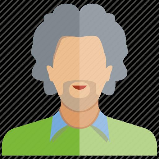 avatar, beard, face, man, people, profile, user icon