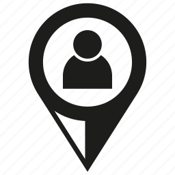map pin, people, pin, pointer icon