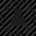 focus, human, people, target icon