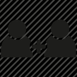 add, friend, human, people, plus icon