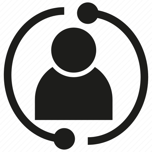 human, people, rotate icon