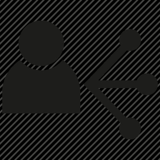distribution, human, people icon