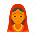 female, girl, hindu, india, indian, lady, woman icon