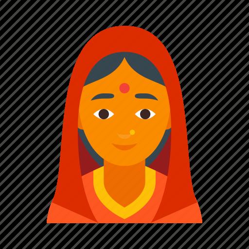Indian girl transparent-6946
