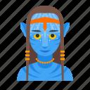 avatar, female, humanoid, na'vi, pandora, sci-fi icon