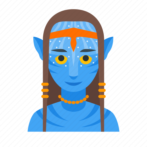 James Cameron S Avatar Logo: Avatar, Female, Humanoid, Na'vi, Pandora, Sci-fi Icon