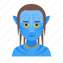 avatar, humanoid, male, movie, na'vi, pandora, sci-fi icon