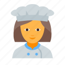 chef, cook, cooking, female, kitchen, kitchener, restaurant icon