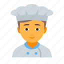 chef, cook, kitchen, kitchener, male, man, restaurant icon