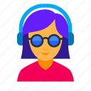 audio, dj, female, music, party, sound, woman icon