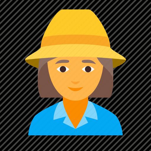 farmer, female icon