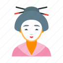 asian, culture, geisha, japan, japanese, national, woman icon