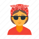 female, hipster, cool, stylish, subculture, trendy, woman icon