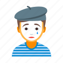 circus, france, french, male, man, mime, pantomime icon
