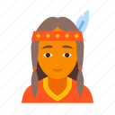 american, female, indian, injun, native, red, redskin icon