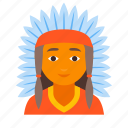 american, indian, injun, male, native, red, redskin icon