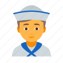 male, sailor icon