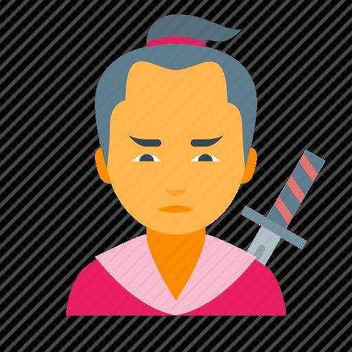 boy, japan, japanese, male, man, samurai, warrior icon