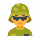 army, helmet, male, military, soldier, war, weapon icon