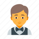 garson, male, vest, waiter icon