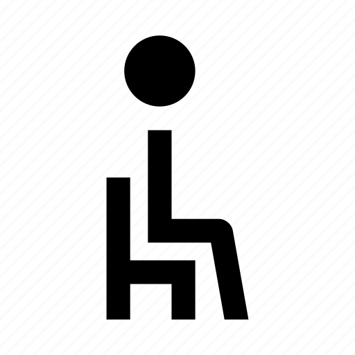 bus, chair, man, people, person, plane, seat icon